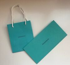 NEW Genuine TIFFANY&CO Shopping Gift PAPER Tote BAG+Receipt Envelope/Card Holder