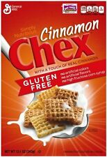 General Mills Chex Cereal Real Cinnamon, Gluten Free, 12.1 Ounce - 2 Pack