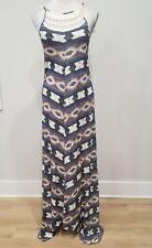 Ikat Haze Print Crochet Halter Neck Maxi Dress Lucky Brand Women/'s XS NWT$99