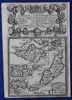 Original antique map, BRITISH ISLANDS, WIGHT, JERSEY, MAN, SCILLY, Bowen, c.1724