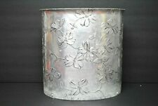 RARE Wendell August Forge Dogwood Flower Aluminum Waste Garbage Basket Trash Can