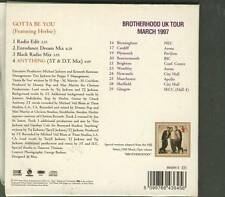 3T Gotta Be You 4 TRACK UK TOUR CD SINGLE WITH POSTER MICHAEL JACKSON production