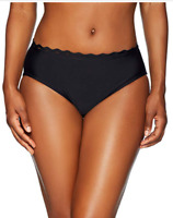 Coastal Blue Women's Swimwear Bikini Bottom, Ebony, Large