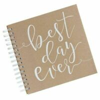 Ginger Ray Rustic Best Day Ever Guest Book 80 Note Cards Kraft New In Package