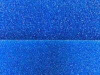 Filterschwamm Filtermatte blau 50 x 50 x 10 cm Grob und Fein für Teich Aquarium