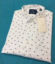 Scotch & Soda 142481 All Over Print Shirt White Size Large RRP £75.00 Brand New
