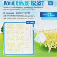 Wind Powered DIY Walking Walker Strandbeest Model Kits Novelty Toy for Kids U2