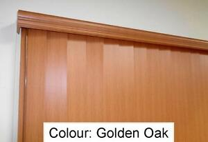 New Timber Look(PVC) Vert. Blind with Pelmet; Color:G.Oak, Custom size available