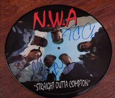 GFA Ice Cube DJ Yella MC Ren * N.W.A. * Signed Vinyl Record Laser Disc ADM COA