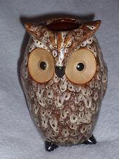 NEW Ceramic Owl Vase Brown & Tan Colors
