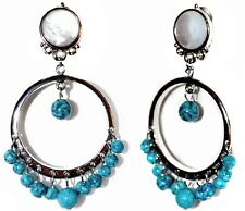 Pearl Adorned Metal Drops Earrings John Galliano Ch 0000544A ristian Dior Turquoise Faux