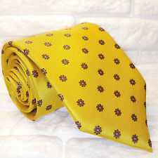 "Cravatta TOP ,Nuova, 100% seta , ""P. Baldini"" , business , tie , yellow"