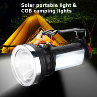Portable Solar Power LED Outdoor Camping Flashlight Torch Emergency Lantern Lamp