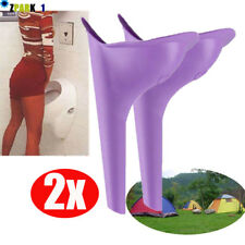 2x Portable Camping Female She Urinal Funnel Ladies Woman Urine Wee Loo Travel