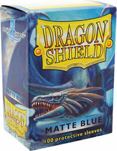 Dragon Shield 100 Protective Sleeves - Matte Blue