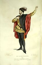 Don Sanche Aragon Carlos Costume Theatre Jean Racine engraving 19th