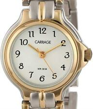 NEW Carriage Women's Round Case White Dial Two-Tone Watch C3C353 SMALL BRACELET
