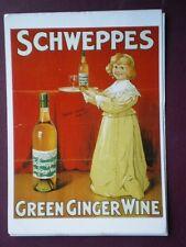 POSTCARD  SCHWEPPES GREEN GINGER WINE