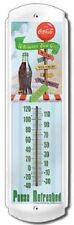 COCA COLA COKE PAUSE REFRESHED METAL THERMOMETER   NEW!!