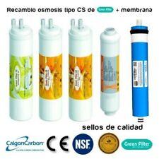 KIT 4 filtros Green filter CS + membrana osmosis conexion espiga Ionfilter