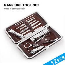 12PCS Nail Care Cutter Kit Set Nail Clippers Tool Pedicure Manicure Big Sales