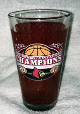 2013 FINAL FOUR Louisville CARDINALS NCAA NATIONAL CHAMPS Pint GLASS #2