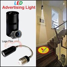 100-240V Bar/Hotel/Shop/Home Logo Projector Advertising LED Light E26 E27 Lamp