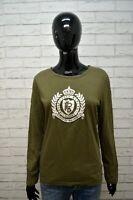 Maglia Donna RALPH LAUREN ACTIVE Taglia L Polo Manica Lunga Shirt Women's Cotone