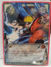 "Naruto Uzumaki & Sasuke Uchiha ""Explosion of the Ultimate"" N-US066 Super Rare NM"
