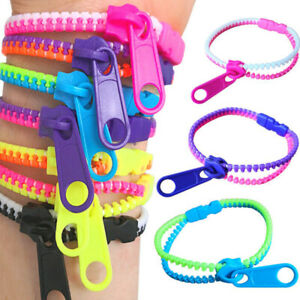 Sensory Zipper Fidget Bracelet Zip Stim Toys Stress Anxiety Relief Autism ADHD
