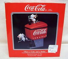 "Enesco Ornament #2 In The Coca-Cola Series ""Have A Coke And A Smile"" 1990"