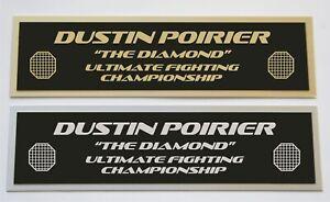 Dustin Poirier UFC nameplate for signed mma gloves photo or case