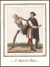 Memento Mori VANITAS Totentanz morte cittadini maggior parte del altkol lito del 1830 DEATH SKULL