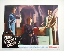CHASE A CROOKED SHADOW Lobby Card #2 Anne Baxter Richard Todd Film Noir 1958