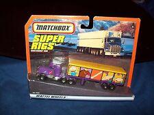 Nickelodeon Matchbox Super Rigs Tractor Trailer Hauler Transporter Match Box