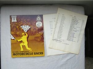 1976 INDIANA STATE FAIR Motorcycle Races Program AMA National Championship CAMEL