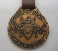 """Military Order of the Cootie M.O.C.A. Key Chain Fob 1-1/2"""" Across"""