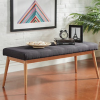 Upholstered Dining Table Bench Mid Century Modern Furniture Dining Room Bench