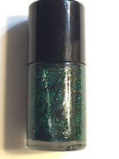 CULT NAILS NAIL POLISH LACQUER TOXIC SEAWEED GREEN ORANGE FLAKIE FLAKE GLITTER