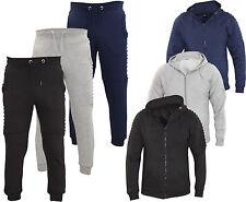 New Kids Track Suit Set Biker Style Hoodie Jogging Bottom Lined Hood Zipper Top