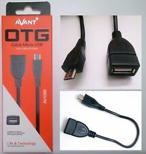 Cable Adaptador Micro USB OTG - USB A Hembra - Micro USB B Macho - 22 cm