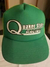 Vintage QUAKER STATE RACING Mesh Snap-Back Cap,NEW OLD STOCK