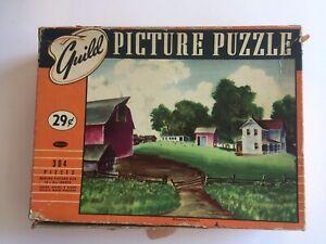 Guild Picture Puzzle Vintage 304 Pieces MINNESOTA FARMYARD 29cent COMPLETE
