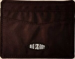 Authentic Big Skinny Open-Sided Mini Skinny Card Case in Black Nylon