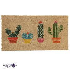 Traditional Cactus Plant Coir Door Hall Doormat Welcome Mat Novelty Home Gift