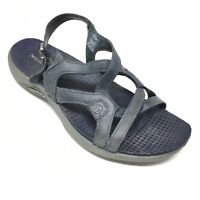 Women's Merrell Agave Strappy Sandals Shoes Size 6M Navy Leather Casual AD2