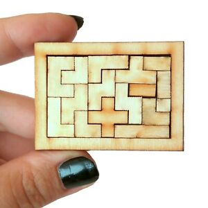 Miniature Puzzle Game, Dollhouse Nursery BJD Baby Doll Toy. Play Board Sorting