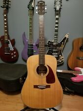 Fender 600 SX Acoustic Guitar with Chip Board Case.  Good Overall Condition