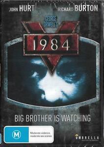 1984 - GEORGE ORWELL - JOHN HURT -  NEW DVD FREE LOCAL POST
