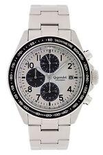 Gigandet Racetrack Herrenuhr Chronograph Datum Edelstahlarmband  G24-002